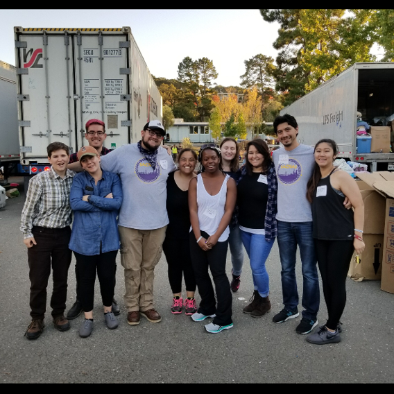 SACNAS at SFSU students helping wildfire victims in Napa County